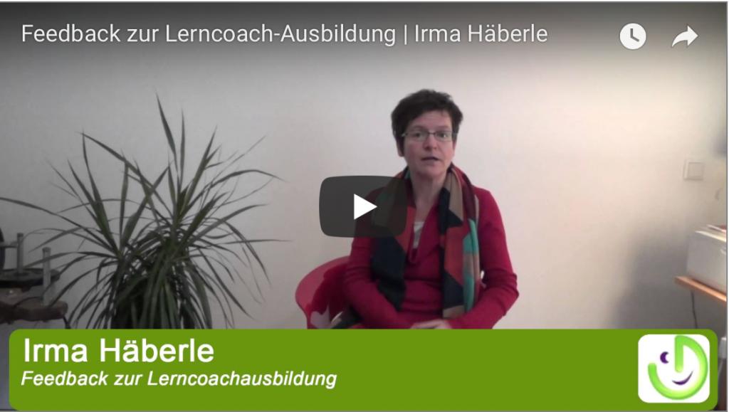 Lerncoach Ausbildung, Feedback, Regensburg, Irma Häberle