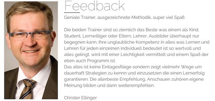 Feedback Christer